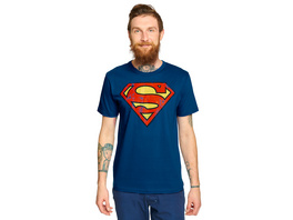 Superman - Distressed Logo T-Shirt blau