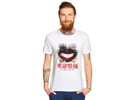 Tokyo Ghoul - Kaneki Mask T-Shirt weiß