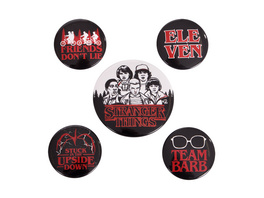 Stranger Things 5er Button Set
