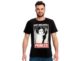Star Wars - Leia Dont Mess With a Princess T-Shirt schwarz