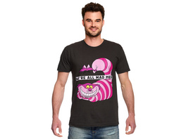 Alice im Wunderland - Grinsekatze All Mad Here T-Shirt grau