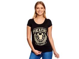 Pokemon - Pikachu Loyal Companion T-Shirt Damen schwarz