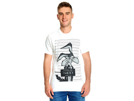 Looney Tunes - Wile E. Coyote Mugshot T-Shirt weiß