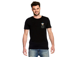 One Piece - Pocket Luffy T-Shirt schwarz