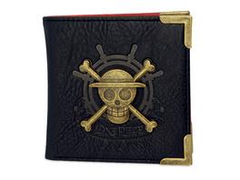 One Piece - Strohhutbande Skull Metall Logo Geldbörse