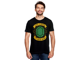 Toss a Rupee to Your Hero T-Shirt für Zelda Fans schwarz
