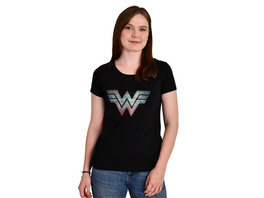 Wonder Woman - 1984 Logo T-Shirt Damen schwarz