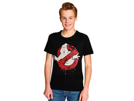 Ghostbusters - Glow in the Dark Logo T-Shirt schwarz