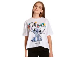Lilo & Stitch - Ohana T-Shirt Damen weiß