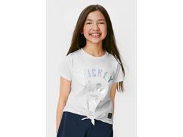 Micky Maus - Kurzarmshirt mit Knotendetail - Bio-Baumwolle