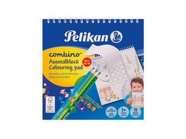 Pelikan 811231 - Spiral Malblock Combino 15x15cm, Tiermotive