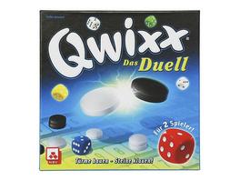 Nürnberger Spielkarten 08038 - Qwixx Das Duell, Taktikspiel für 2 Personen