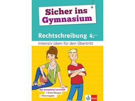 Sicher ins Gymnasium Rechtschreibung 4. Klasse